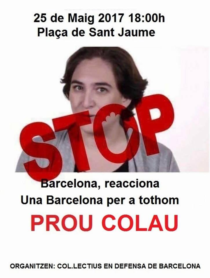 cartell convocatoria STOP COLAU 25 mai 2017