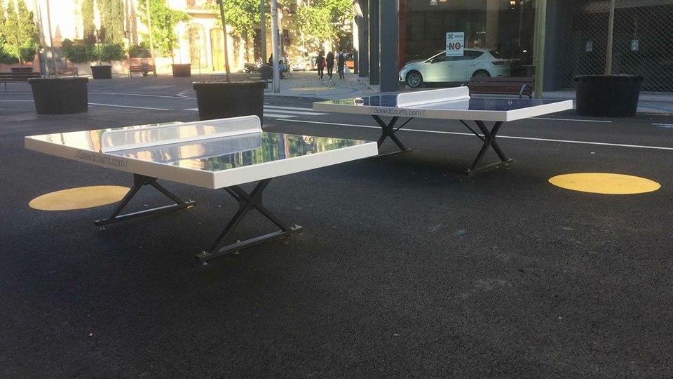 superilla poble nou taules ping pong tenis de taula Víctor mai 2017